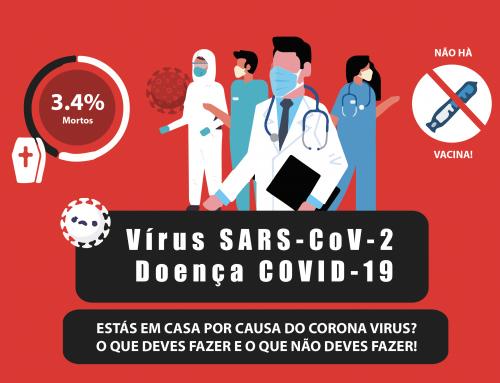 Está em casa por causa do Coronavírus?